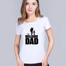2017 patins teen wolf cccp back to the future slipknot world of tanks The WALKING Dad Tees women t-Shirt Plus Size Tee Shirts(China)