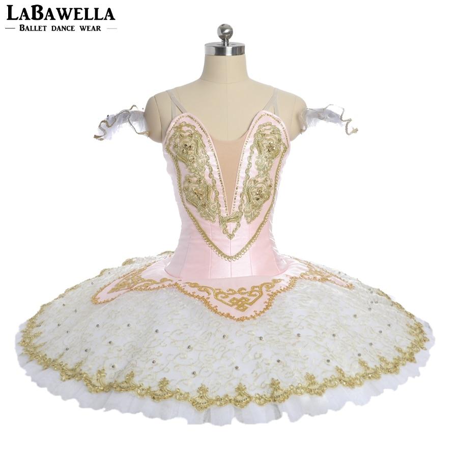 Women pink fairy pancake competiton stage tutu costumes child ballerina professional tutu girls performance costume BT9051B