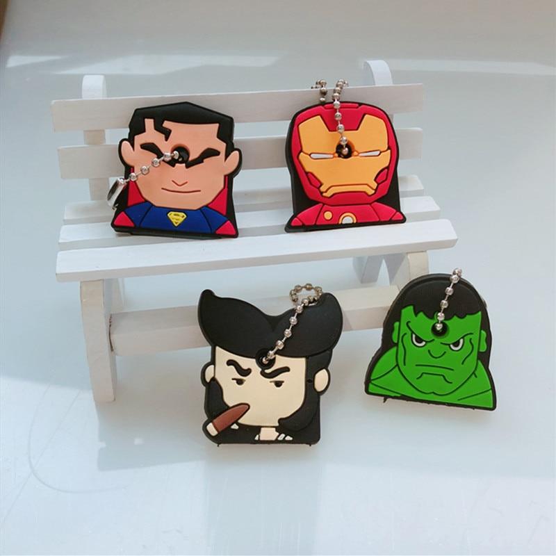 Key Holder Cartoon Silicone Protective key Case Cover For keys Cute Creative PVC Soft Keychain Ornament Pendant (4)