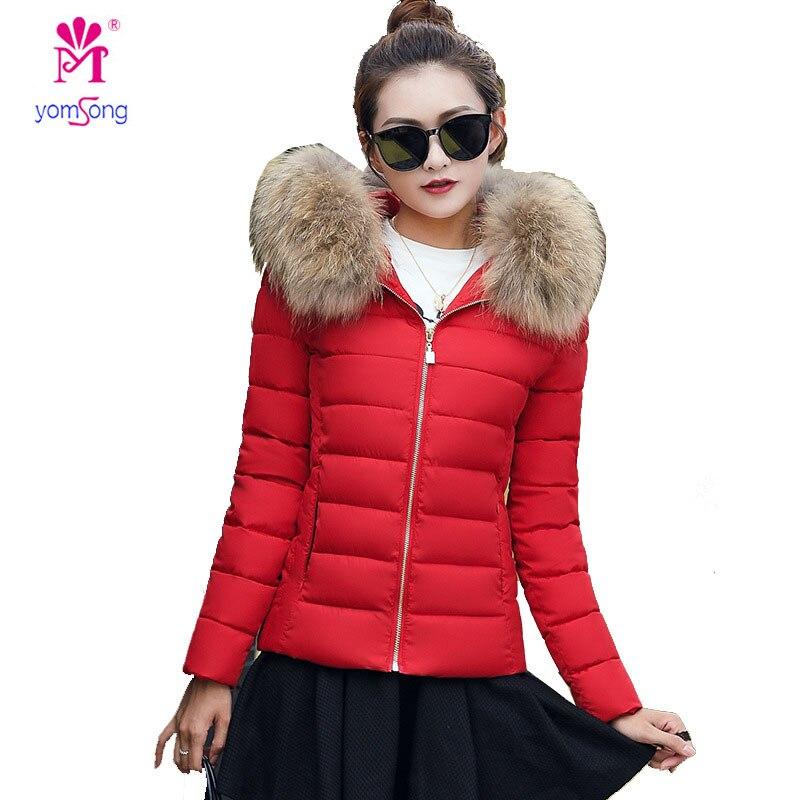 Yomsong Womens 7 Colours Cotton Garment Short Slim Jacket Thick Coat Winter Big Size Coat 3116Îäåæäà è àêñåññóàðû<br><br>