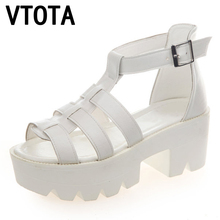 VTOTA Summer Women Sandals Fashion Gladiator Sandals Woman High Heels Platform Rome Women Shoes sandalias mujer Shoes Women X395