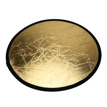 60cm/80cm/110cm 2 in 1 Light Mulit Collapsible Disc Photography Reflector Photo Studio Accessories for flash light Silver/Gold