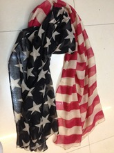 2015 New Black US Flag Scarf Fashion Good Quality The American Flag Shawls Star And Stripe Pattern Scarf Hijab Free Shipping(China)