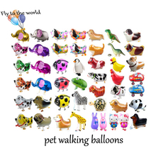 mixed styles 20pcs/lot Animal Balloons Walking Pet Balloons inflatable balloons Free Shipping(all style enough stock)(China)