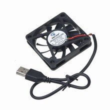 Gdstime 1 Piece DC Brushless PC Cooling Fan 5V USB Connector 6010 USB Fan 60mm x 10mm 6cm Computer CPU VGA Heatsink Cooler(China)