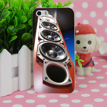 B4068 Tower Speakers Wood Transparent Hard Thin Case Cover For Apple iPhone 4 4S 5 5S SE 5C 6 6S 6Plus 6s Plus
