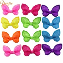 "70pcs/lot 2018 Cute 2"" inches Butterfly Neon Sequins Hair Bows Girl Beauty Hair Accessories Headwear For DIY women Headbands(China)"