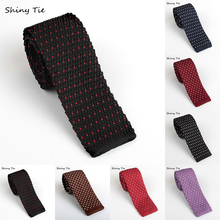 2016 Classic Knitted Tie 3 Colors Red Bule Black Fashion Dot Man Neckties Skinny Narrow Style