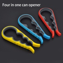 Hot Sale New multi-purpose four-in-one size beer household kitchen bottle opener non-slip screw opener(China)