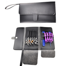 High Quality Hairdresser Tools Bag PU leather Scissor Hand Bag Can Hold 5 Pieces Scissor Hairdressing Scissor Wallet For Combs(China)