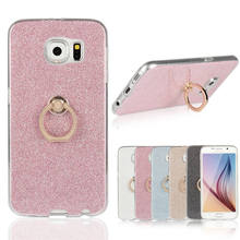 Buy Samsung S6 Cases Luxury Bling Glitter Flexible Phone Case Samsung Galaxy S6 G920 Finger Holder Rotated Ring Cover for $2.65 in AliExpress store