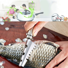 For Home Kitchen Fish Scale Scraper Cleaner Durable Stainless Steel Fish Scraper Remover Kitchen Specificy Tool Supplies(China)