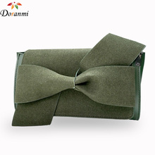 DORANMI Elegant Handbags Bow Decorated Purse 2017 New Brand Design Luxury Clutch Evelope Bags Casual Party Messenger Faux Suede