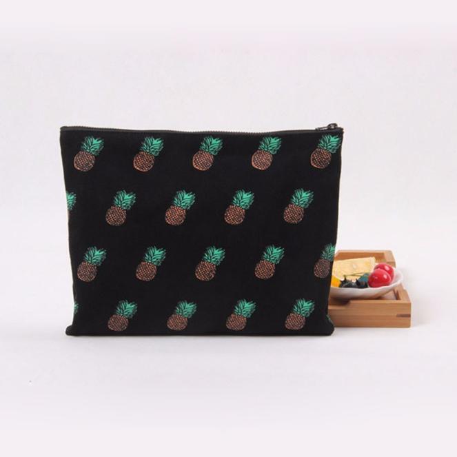 GRACEFUL  Women Pineapple Pattern Canvas Clutch Handbag Purse Cosmetic Bag bolsa feminina NOV24<br><br>Aliexpress