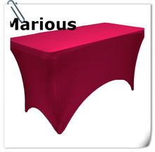Big Discount & Hot sale  !!!! 10pcs 6ft  Rectangle Spandex Table Cloths (180*60*75cm)Elastic Wedding Table Covers Free Shipping