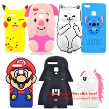 Hot Sell Star Wars Master Yoda Stitch Pocket Cat Pig Unicorn Soft Silicone Cell Phone Cases Covers For Huawei P9 / P9 lite Case(China)