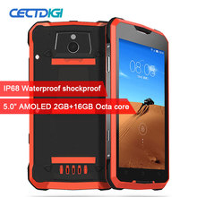 IP68 Waterproof Shockproof Smartphone 5.0 inch AMOLED MTK6752 Octa Core 2GB RAM 16G ROM Dual 4G 16.0MP Android Mobile phone V1(China)