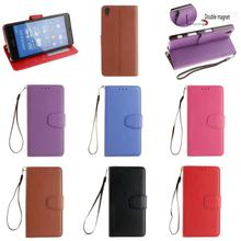 Cheap Luxury Fashion New Retro PU Leather Flip Wallet Phone Case Cover For Sony Xperia Xperi Z3 Dual Red Black Rose Blue Brown