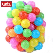 QWZ 100pcs/lot Eco-Friendly Colorful Soft Water Pool Ocean Wave Ball Baby Funny Toys Stress Air Ball Outdoor Fun Sports Gift(China)