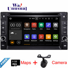 Android 5.1.1 Car DVD Player for Universal 2DIN Build-in WIFI+7 color Button light+USB/SD+SWC+AUX IN+Mirror-link+Camera