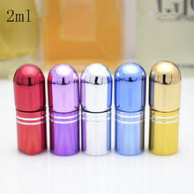2ml Empty Glass Refillable Perfume Roll On Bottle New Style Top Grade Parfume Essential Oil Eye Gel Empty Cosmetic Containers