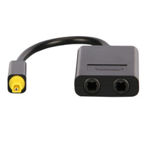 HOT Digital Optical Fiber SPDIF Audio Cable Splitter Connector Toslink 1 Male to 2 Female 1X2 1 to 2 Splitter Adapter Black(China)
