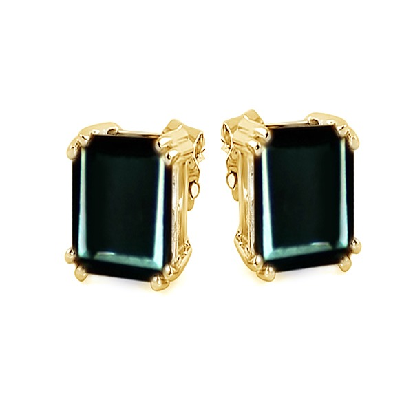 4.00 Ct Greenish Black Real Moissanite Diamond Stud Earrings In Sterling Silver (1)