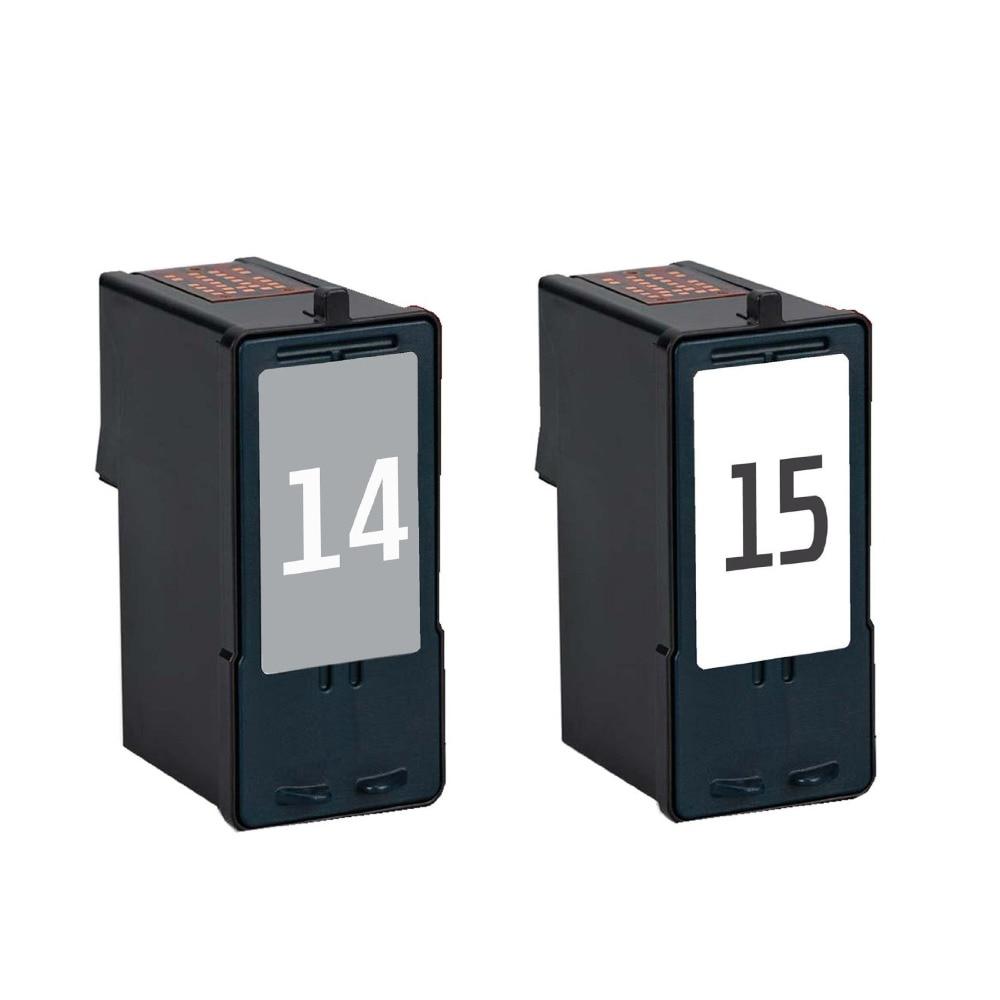 2pcs compatible for Lexmark 14 15 18C2090 18C2110 ink cartridge for Lexmark Z2300 Z2320 X2650 X2600 X2670 Printer<br><br>Aliexpress