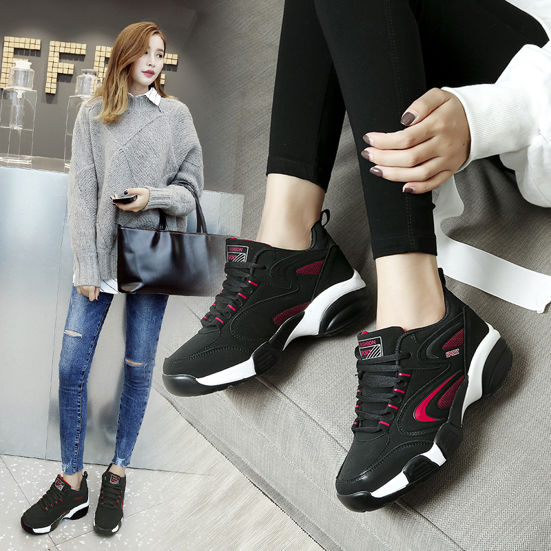 NUYORK 2018 New fashion women shoes winter ladies shoes Cow Muscle Trend Of Casual shoes lace-up Couple Lover Cotton boots