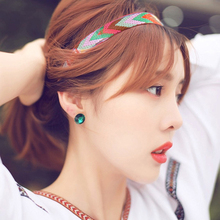 2017 Decorated the national wind retro hair ornaments woven headband with Bohemia Headdress Hair Accessories For Girls hot sell