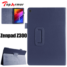 "TopArmor case For ASUS Zenpad 10 Z300C Z300CL Z300CG 10.1"" Tablet pc flip stand PU Leather protection cover case Accessories(China)"
