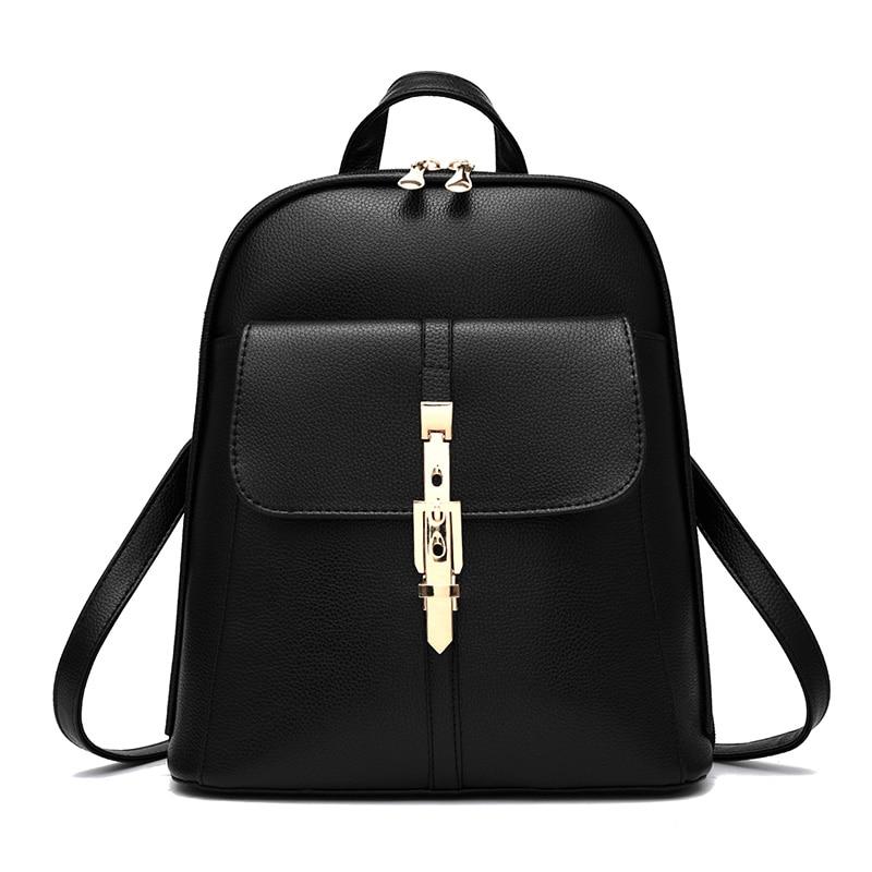 Cute Mochila Escolar Backbag Women Black Real Brand Famous Backpack For Teenage Girls Feminina School Bookbag <br><br>Aliexpress