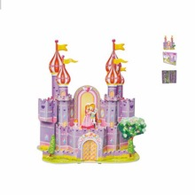 3D DIY Kid Early learning Castle Construction Pattern gift Brinquedo Educativo Houses Puzzle Jigsaw Baby toy(China)