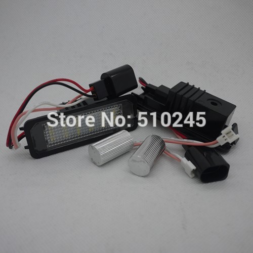 1 setX 18 SMD Chips 3528 12V white LED Licence Number Plate Light Lamp For VW GOLF4,Golf5,Golf6 free shipping<br><br>Aliexpress