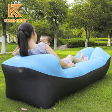 240*70cm Fast Inflatable Lazy bag Air Sleeping Bag Camping Portable Air Sofa Beach Bed Air Hammock Nylon Banana Sofa Lounger
