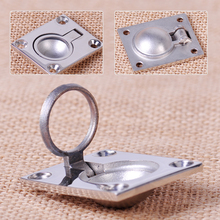1pc Stainless Steel Ring Handle Flush Hatch Locker Cabinet Pull Lift Boat Marine(China)