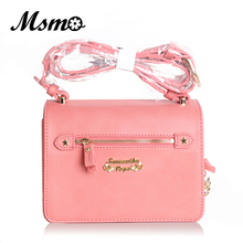 MSMO New Summer Limited Card Captor Sakura x Samantha Vega Shoulder Bag PU Leather Handbag Women Messenger Crossbody Small Bag(China)