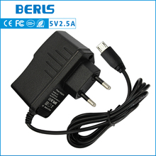 High Quality Power adapter 5V 2.5A universal power adaptor AC DC Adapter With EU Connector DC Jack Micro USB