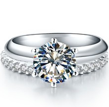 Fashionable 3Ct Synthetic Diamonds Engagement Ring with Perfect Band Ring High Quality Guarantees Best Part Accessories