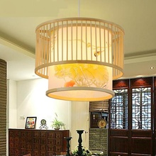Chinese style bedroom study art bamboo pendant lights creative food products Southeast Asia living room restaurant ZA627 ZL118(China)