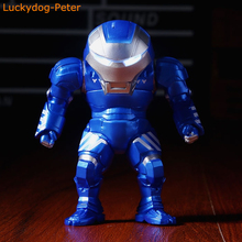 The Avengers Blue Ver. Hulkbuster Iron Man Action Figure Cute Ver. Bule Hulkbuster Doll PVC ACGN figure Anime 10CM(China)