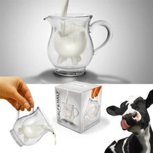 Glass milk cup Fred and Friends Half Pint Creamer,calf Half mini carton creamer milk mug 11*11*11cm  free shipping
