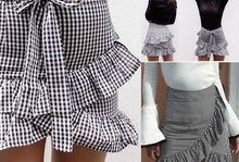 Fashion Women's Vintage Stretch High Waist Plain Striped Cotton Ruffles Bowknot Skirts Skater Flared Pleated Long Skirt Outfits