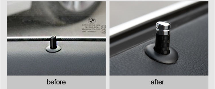 4pcs Carbon Fiber Styling Car Door Lock Bolt Cover Trim Stick Pin Cap Interior Accessories Sticker For BMW X5 X6 (1)