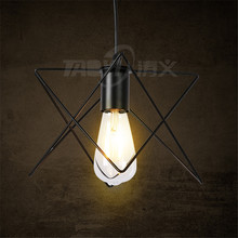 Creative personality American living room five-pointed star wrought iron pendant lamp for restaurant bar cafe