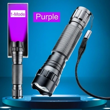 WF-501B 3W 300 Lumen UV Flashlight Torch Light Purple Violet Light Ultraviolet Luxeon LED Lamp For Marker Checker Cash Detection(China)