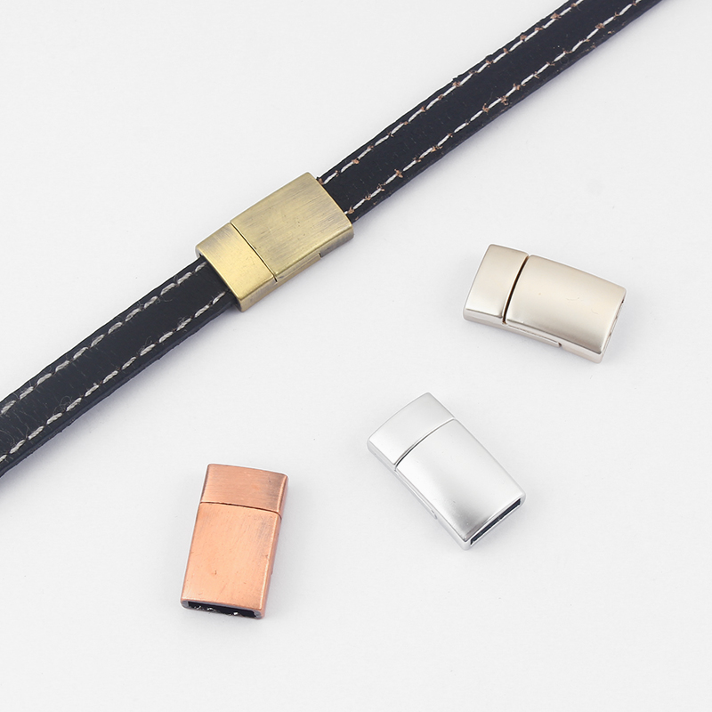 3//5Sets Antique Gold Magnetic Clasp For 10x6mm Licorice Leather Cord Bracelet
