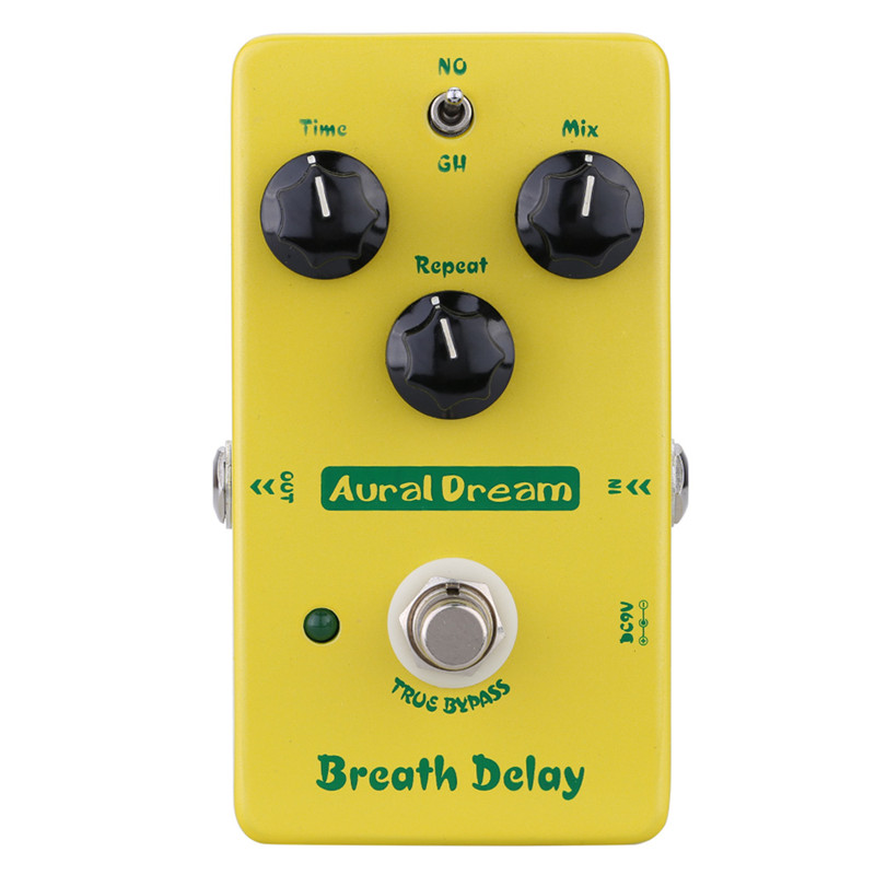 Aural Dream True Bypass Breath Delay Effects Pedal for Electric Guitar<br>
