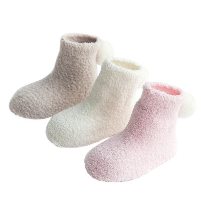 3 Pairs/Set cotton Super warm Baby Socks Baby Girls Boys Toddler Newborn Infant Warm Anti Slip Floor Socks