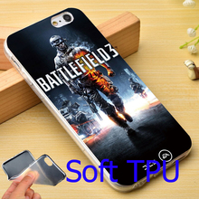 Cool Battlefield 3 Game Graphic Logo Soft TPU Phone Case for iPhone 7 6 6S Plus 4 4S 5C 5 SE 5S Cover